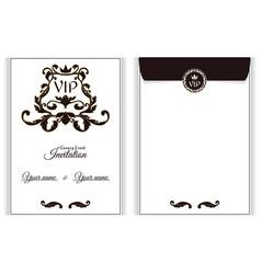 elegant vertical vip envelope it is executed in vector image vector image