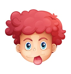 Face of a boy vector image vector image