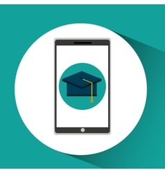 Girl app education online graduation school vector