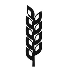 Grain spike icon simple style vector