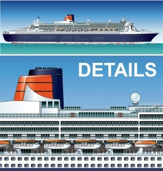 hi-detailed cruise ship vector image vector image