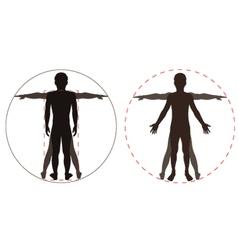 Human body part vector