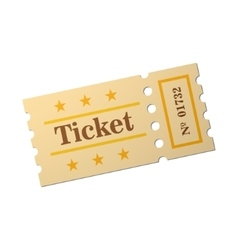 Image of ticket vector