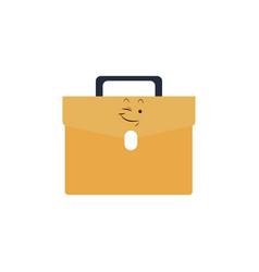 Kawaii briefcase business portfolio bag cartoon vector