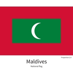 National flag of Maldives with correct proportions vector image