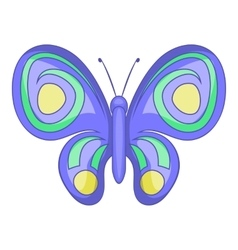 Night butterfly icon cartoon style vector