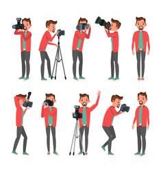 Photographer photo studio photographer vector