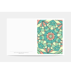 Postcard retro cover in turn with a bright vector