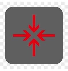 Reduce arrows rounded square button vector