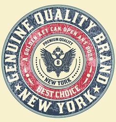 Retro emblem Heraldic elements vector image