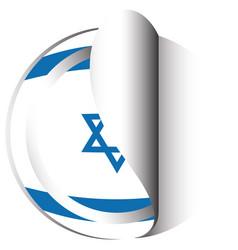 Sticker design for flag of israel vector