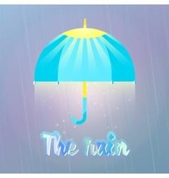 Sun and warm rain good weather vector image vector image