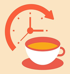 Time for a coffee break vector