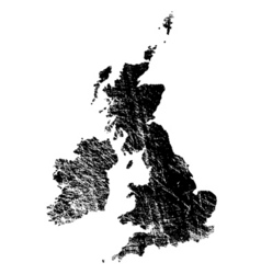 uk eroded vector image vector image