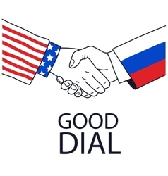 Usa and russia friendship vector