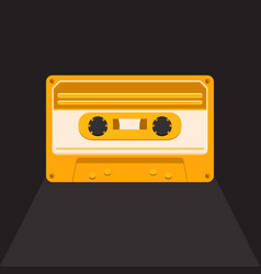 Vintage audio cassette vector