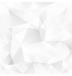 White crystal triangles abstract background vector image