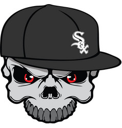 white sox skull vector image vector image