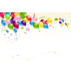 Festive balloons background vector