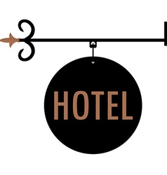 Hotel vintage old sign vector