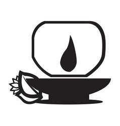 Flat black therapic aroma icon vector