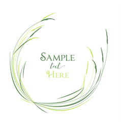 grass in a meadow vector image