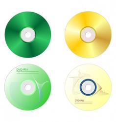 dvd disk set vector image