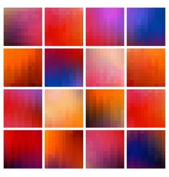Colored pixel backgrounds vector