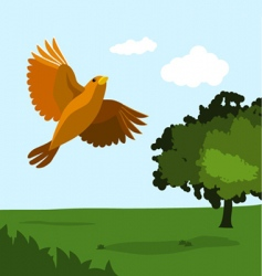 bird with nature vector image