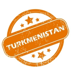 Turkmenistan grunge icon vector