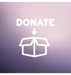 Donation box thin line icon vector