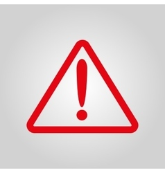 The attention icon danger symbol flat vector