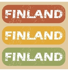 Vintage finland stamp set vector