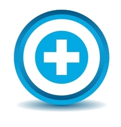 Medical icon blue 3d vector