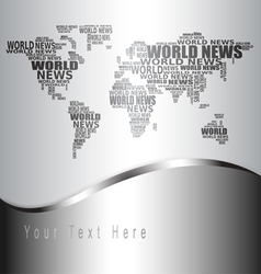 world news concept vector image