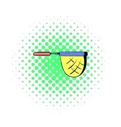 Net for fishing icon in comics style vector