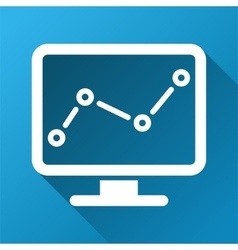 Trend monitoring gradient square icon vector