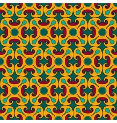 Square rosettes seamless pattern vector