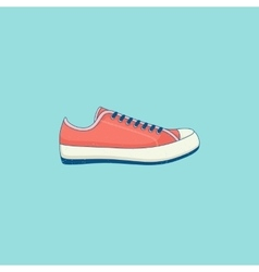 Sneakers line flat icon vector
