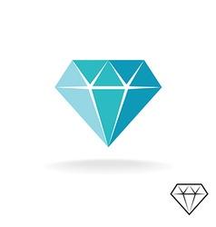 Diamond logo blue diamond symbol jewellery shop vector