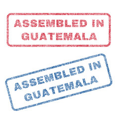 Assembled in guatemala textile stamps vector