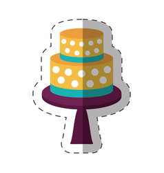 Cake dessert decorative shadow vector