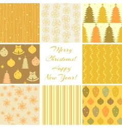 Christmas patterns collection 3 vector image vector image