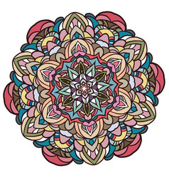 Circle lace organic ornament mandala vector