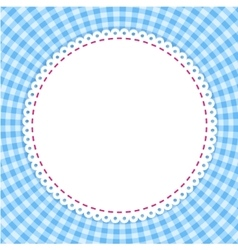 Classic tablecloth gingham background vector image vector image