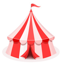 Colorful circus tent flat vector