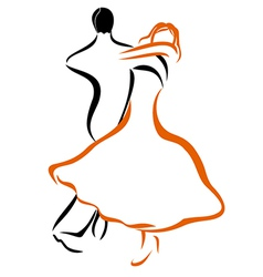 Dancing couple 1 vector
