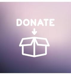 Donation box thin line icon vector