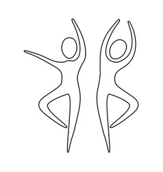 Figure people dancing together icon vector
