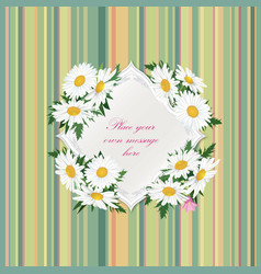 Flower bouquet floral frame flourish summer vector